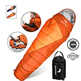 WhiteFang Mummy Sleeping Bag with Compression Sack, Portable and Lightweight for 3-4 Season...