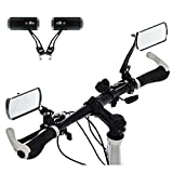 AIDDKK 1 Pair Aluminum Alloy Bike Rearview Mirror,360°Adjustable Rotation Bicycle Back Mirror