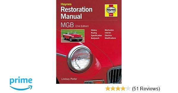 mgb restoration manual restoration manuals lindsay porter rh amazon com 1966 MGB mgb restoration manual pdf