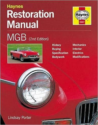 Mgb restoration manual restoration manuals lindsay porter mgb restoration manual restoration manuals lindsay porter 9781859606070 amazon books fandeluxe Gallery