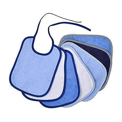 7 x Babyl/ätzchen Frottee 100/% Baumwolle zum Binden in der Gr/ö/ße 20 x 25 cm blau
