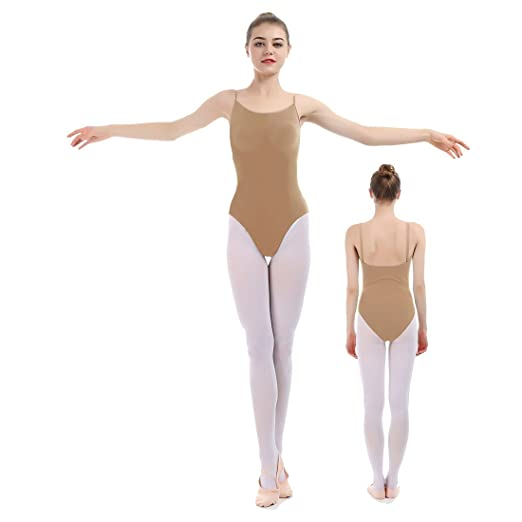 6c19297bba4 Amazon.com  iMucci Professional Seamless Nude Camisole Leotard - Undergarment  Dancewear for Ballet Dance  Clothing