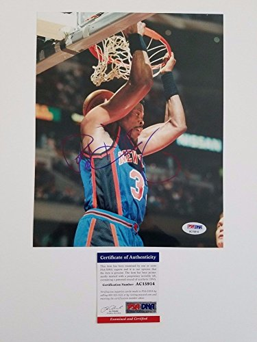 Patrick Ewing Autographed 8x10 Photo - PSA/DNA Certified New York Knicks Autographed Hall Of Fame