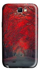Red Leaf Trees Polycarbonate Hard Case Cover for Samsung Galaxy Note II N7100