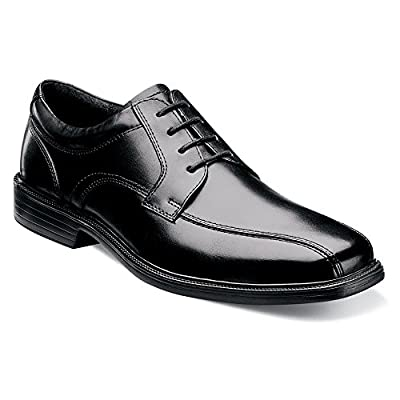 Florsheim Men's Rally Bike Toe Oxford Black Leather 11.5 D