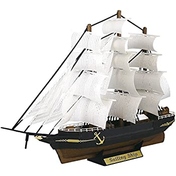 Amazon Paper Nano Black Pirate Ship Building Kit Toys Games