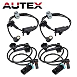 AUTEX 4PCS ABS Wheel Speed Sensor Front & Rear ALS1464 ALS1465 compatible with 2007-2012 Cadillac Escalade EXT/2007-2012 Chevrolet Avalanche Suburban 1500 Tahoe/2007-2012 GMC Yukon XL 1500
