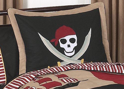 Sweet Jojo Designs Treasure Cove Pirate Pillow - Cove Pirates Hamper