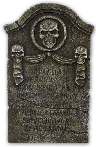 Skulls and Ribbon Tombstone (Gray) Prop