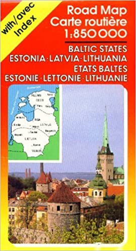 Baltic States Road Map Estonia Latvia Lithuania 1850 000