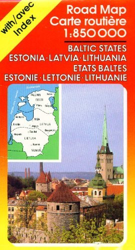 Baltic States Road Map: Estonia, Latvia, Lithuania 1:850,000 (Ravenstein International Maps)