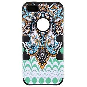 ZCL- Estuche blando indios patrón azteca retro tribu maya de silicona protectora para el iphone 5/5s (colores surtidos)