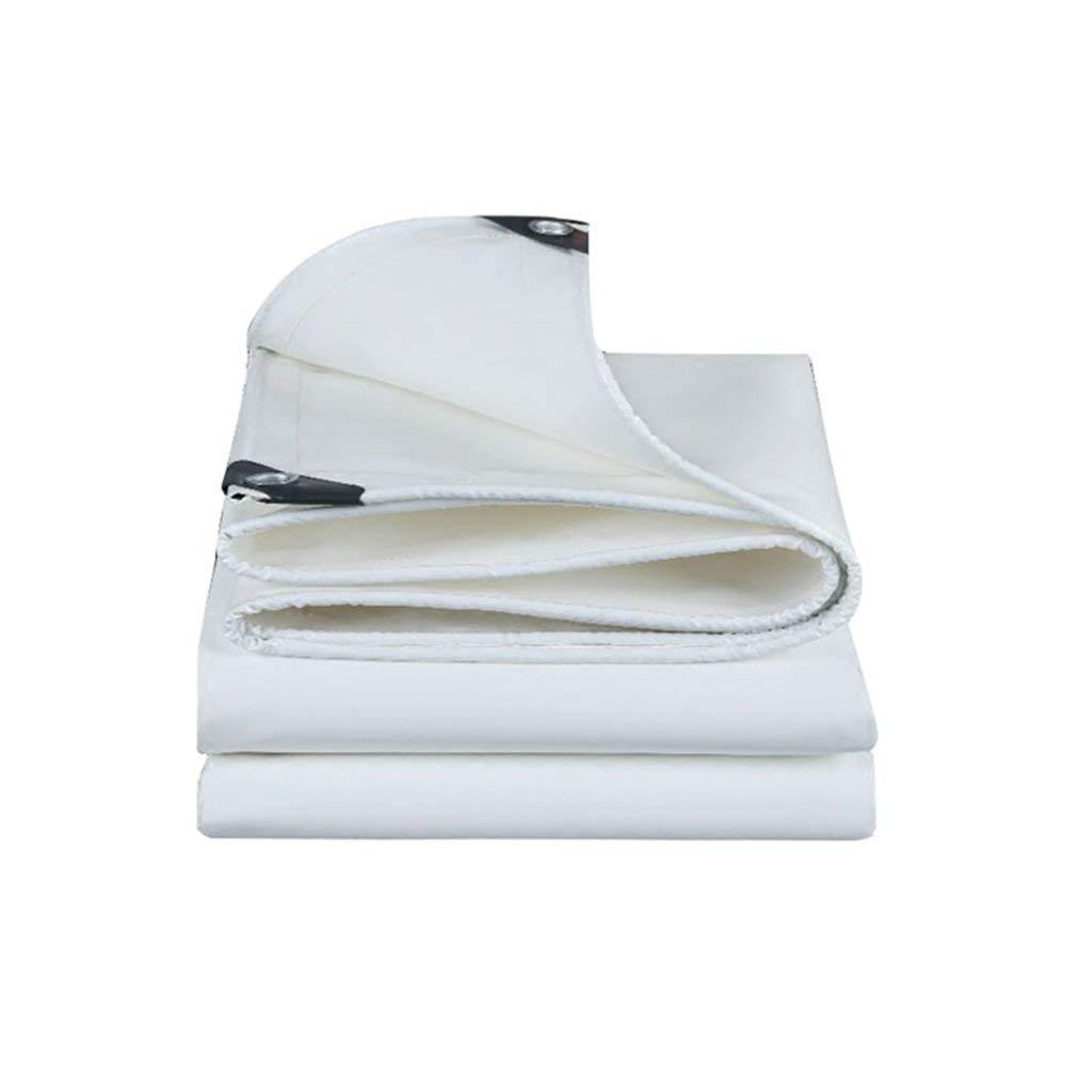 QINCH Außenzelt Plane Regendichte Sonnencreme Plane LKW Plane Outdoor Schatten staubdicht Winddicht Isolationssegeltuch, weiß (Farbe   A, Größe   4  5)