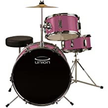 Union DBJ3071(PK) 3-Piece Junior Drum Set with Hardware, Cymbal and Throne-Pink