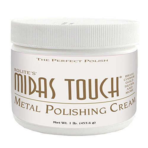 Rolite's Midas Touch Metal Polishing Cream (1lb) with Jewelers Rouge for Gold, Brass, Copper, Bronze, Platinum, Pewter, Bronze, Sterling Silver (Polish Stainless Steel Flatware)