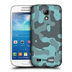 Blue Soft Camouflage Back Case Cover For Samsung Galaxy S4 Mini I9190