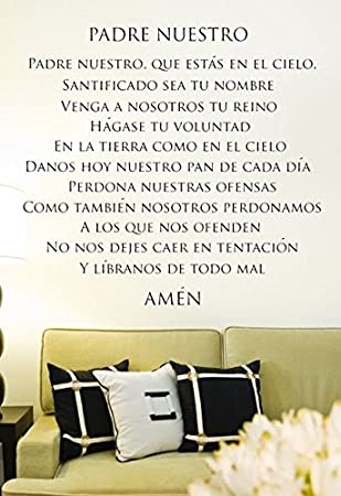 Amazoncom Padre Nuestro Spanish Prayer Religious Vinyl Wall Decal - Decoracin-de-pared