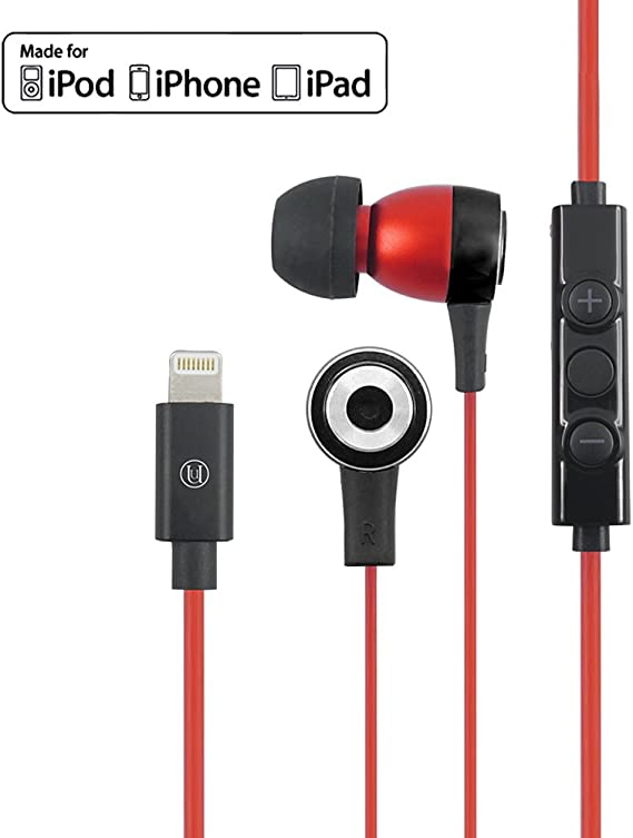 Amazon Com Uunique Regent Mfi In Ear Lightning Headphones For Iphone 7 Apple Certified Earbuds With Volume Control And Built In Mic For Iphone 7 Iphone 7 Plus 6s 6 5s 5 Ipad Ipod