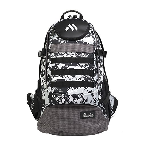 (MACHIR Signature Military Digital Camo Travel Laptop Backpack Business College School (Avian Millennium Smoke))