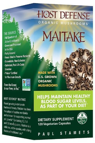(Host Defense Organic Mushrooms - Maitake, 120 vegetarian capsules by Fungi Perfecti )
