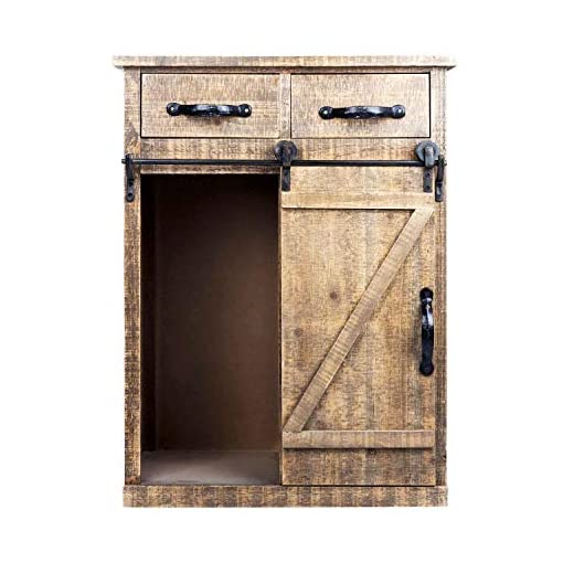 Farmhouse Buffet Sideboards Wood Accent Cabinet with 1 Door and 3 Shelves – Farmhouse Sideboard Buffet Storage Cabinet for Kitchen,Barnwood Brown farmhouse buffet sideboards