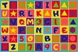 Cheap Kids Area Rug (Letters and Numbers)Learning Carpet Paradise (7ft4in.x10ft4in.)