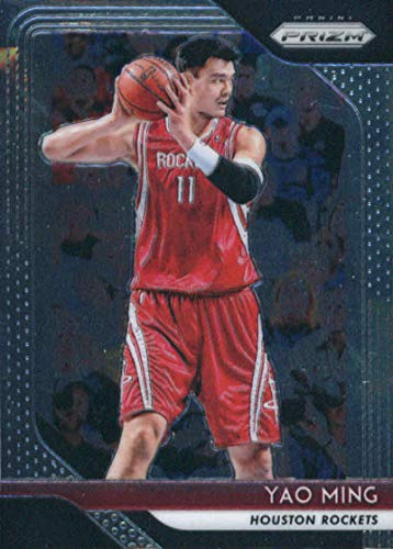 - 2018-19 Prizm Basketball #135 Yao Ming Houston Rockets Official NBA Trading Card From Panini