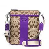 Coach Signature Legacy Swingpack Crossbody Bag 48452 Khaki Ultraviolet, Bags Central