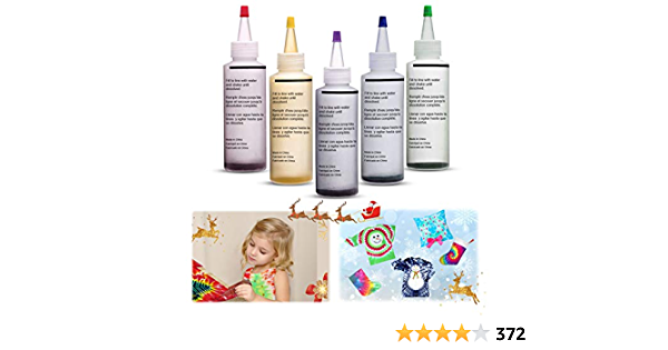 Essort Tie-Dye Kit Tinte para Ropa 5 Colores Juego de Teñido ...
