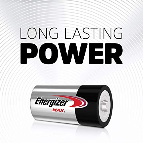 Energizer Max C Batteries, Premium Alkaline C Cell Batteries (12 Battery Count)