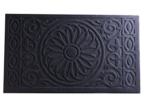 Bekith Indoor Outdoor Doormat Entrance Rug Wiper Floor Mat, Non Slip Rubber Backing, 29