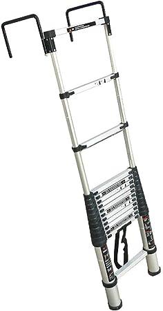 WGOOGA Escalera telescópica Alta de 2M / 4M con Gancho Fijo de 30 cm, extensión de Cerca de Pared Loft multipropósito Extienda la Escalera portátil Carga 150 kg (Size : 2.9m/9.5ft): Amazon.es: Hogar