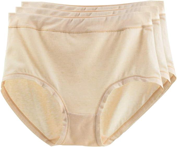 XFentech Bragas para Mujer - Algodón Suelto Color Sólido Pack de 3 ...