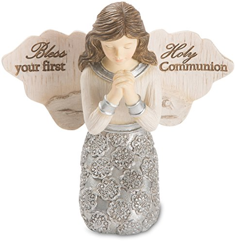 Pavilion - Bless Your First Holy Communion - Praying Girl Angel Figurine 3.5 (First Communion Angel)
