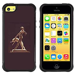 Suave TPU GEL Carcasa Funda Silicona Blando Estuche Caso de protección (para) Apple Iphone 5C / CECELL Phone case / / Statue Woman Naked Nude Dog Ancient God /
