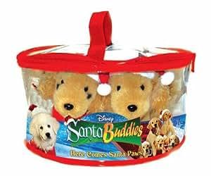 Amazon Com Santa Buddies Gift Set Dvd Five Plush