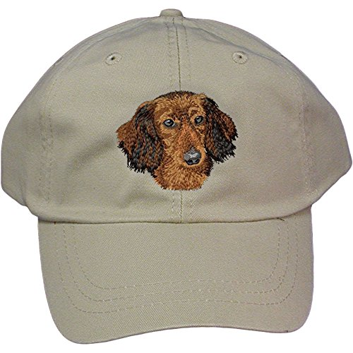 Cherrybrook Dog Breed Embroidered Adams Cotton Twill Caps - Stone - ()