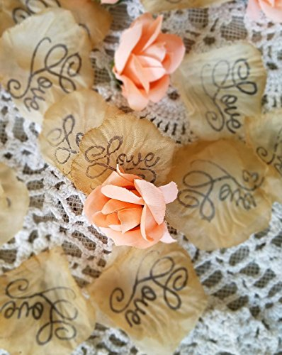 Wedding Confetti, silk rose petals, Soft coral rosebuds, Wedding Table scatter,Bridal Shower Decorations