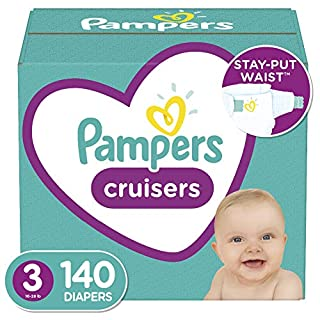 Diapers Size 3, 140 Count - Pampers Cruisers Disposable Baby Diapers, Enormous Pack