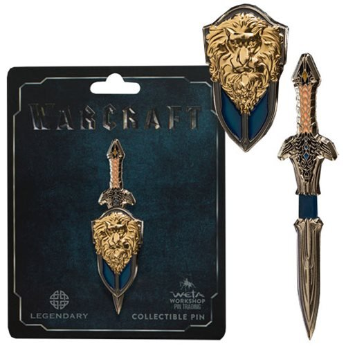 Entertainment Earth Warcraft Lothar Sword & Shield Dual Pin]()