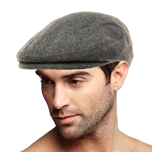 Men's Winter 100% Soft Wool Solid Flat IVY Driver Golf Cabby Cap Hat Large