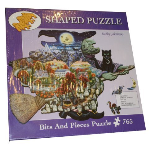Bits & Pieces Shaped 765 Piece Puzzle - Witch Way to Halloween by Artist Kathy Jakobsen]()