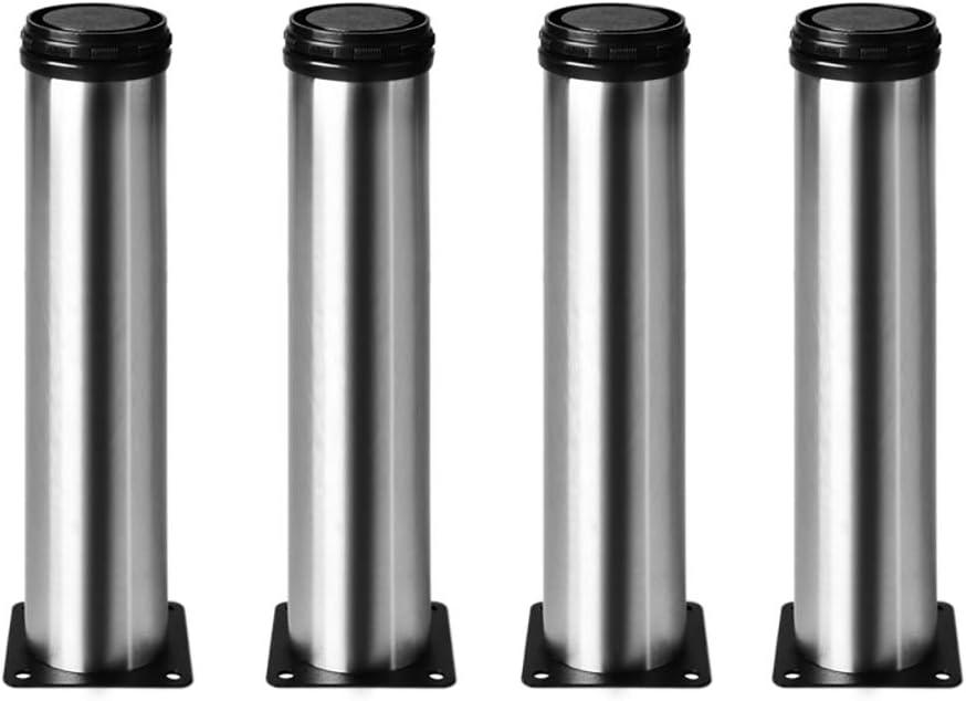 Total: 50mm Metal cromado 4 unidades Patas de Metal muebles regulables armario de cocina pies redondo Altura ajustable