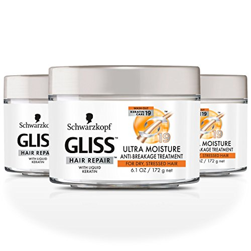 - GLISS Hair Repair Anti-Breakage Treatment, Ultra Moisture for Dry or Stressed Hair, 6.1 Ounces (Pack of 3)