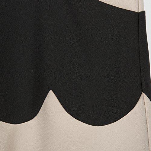 Xaviera Bloque Del Color Del remiendo Vestido de LAS Mujeres de LA vendimia 1950s Black at Amazon Womens Clothing store: