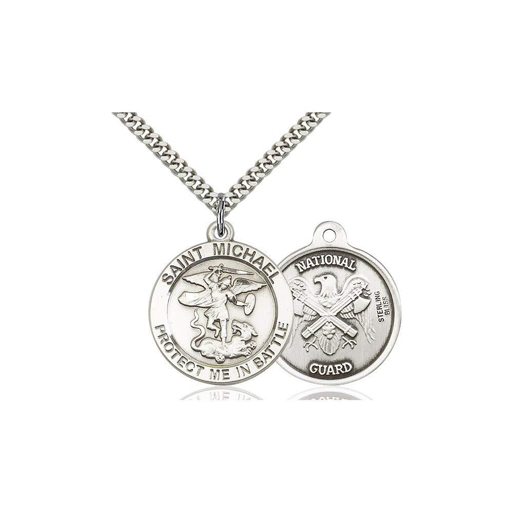 Michael The Archangel Pendant DiamondJewelryNY Sterling Silver St