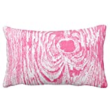 UOOPOO Wood Grain Hot Pink Pattern Cotton Canvas Pillow Case 12 x 18 Inches Square Happy New Year Cushion Cover for Sofa Print One Side