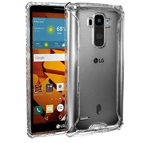 LG G Stylo Case, POETIC Affinity Series Premium Thin/No Bulk/protection where its needed/Clear/Dual material Protective Bumper Case for LG G Stylo (2015) Frosted Clear/Clear