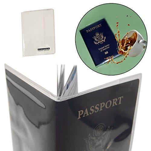 Travelon (5 Pack) Passport Covers Clear PVC Plastic Document Holder Protectors Case -