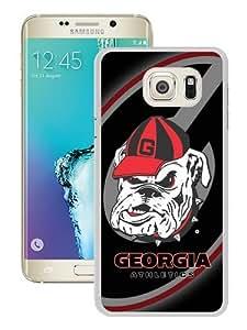 Hot Sale Samsung Galaxy S6 Edge Plus Case ,Unique And Durable Designed Case With Southeastern Conference SEC Football Georgia Bulldogs 3 white Samsung Galaxy S6 Edge+ Cover Phone Case